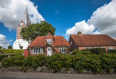 Mogeltonder liten dansk by i sydvästerna av Jutland p arkivbilder