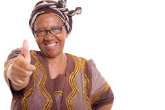 Mogen afrikansk kvinna Royaltyfri Bild