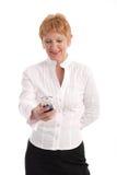 mogen attraktiv affärskvinna arkivfoton