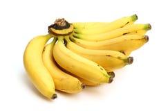 Mogen banan som isoleras på vit Fotografering för Bildbyråer