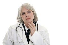 mogen doktorskvinnlig Arkivbild