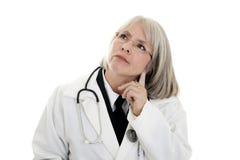 mogen doktorskvinnlig Arkivfoton