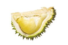 Mogen Durian på isolerad vit bakgrund Royaltyfri Fotografi