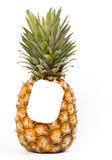 mogen etikett för ananaspris Royaltyfria Foton