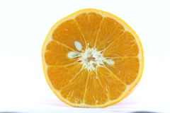 Mogen för tangerinMandarine för mandarin citrus isolerad apelsin på vit bakgrund Arkivfoton