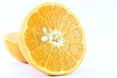 Mogen för tangerinMandarine för mandarin citrus isolerad apelsin på vit bakgrund Arkivfoto