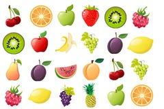 Mogen frukt, illustrationer royaltyfri illustrationer
