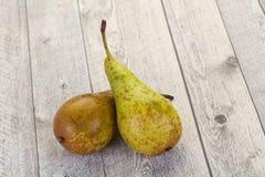 mogen grön pear royaltyfri foto