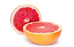 Mogen grapefrukt på vit bakgrund Arkivfoto