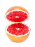 Mogen grapefrukt på vit bakgrund Royaltyfri Fotografi