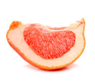 Mogen grapefruktsegmet Arkivbild