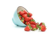mogen jordgubbe arkivbild