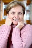 mogen kvinna Fotografering för Bildbyråer