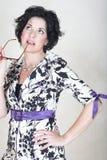 mogen kvinna för affär Royaltyfria Bilder