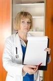 mogen kvinna för doktor Arkivbilder