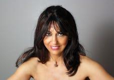 mogen kvinna för härlig headshot 2 Arkivfoto