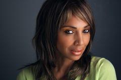 mogen kvinna för härlig svart headshot 7 Royaltyfria Bilder