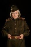 Mogen kvinnlig soldat Royaltyfri Bild