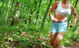 mogen löparekvinna Arkivbilder