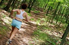 mogen löparekvinna Arkivfoton