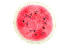 Mogen ljus halva en vattenmelon på en vit bakgrund isolerat Royaltyfri Bild