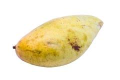 Mogen mango på vit bakgrund royaltyfria foton