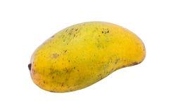 Mogen mango på vit bakgrund royaltyfria bilder