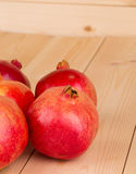 mogen pomegranate Arkivfoto