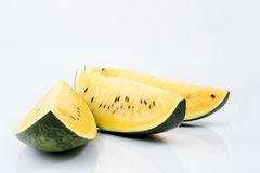 Mogen randig gul vattenmelon royaltyfri bild
