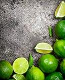 Mogen saftig limefrukt royaltyfria foton