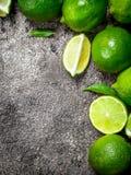 Mogen saftig limefrukt royaltyfri bild