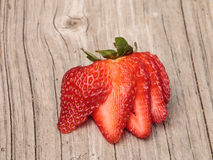 mogen skivad jordgubbe Royaltyfri Bild