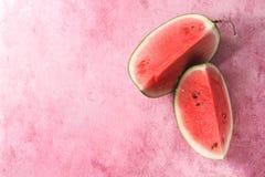 mogen skivad vattenmelon Arkivfoto