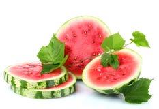 mogen skivad vattenmelon Royaltyfria Bilder