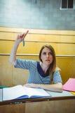Mogen student i hörsal Arkivbilder