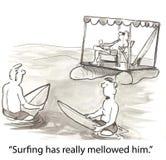 mogen surfare Arkivbilder