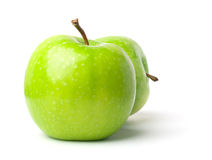 mogen white för äpplebakgrund Royaltyfria Foton