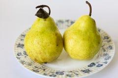 mogen yellow för pear Arkivbild