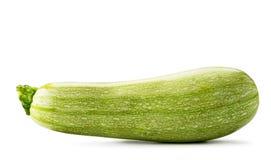 Mogen zucchininärbild på ett vitt isolerat arkivfoton
