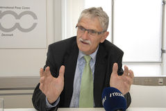 MOGENS LYKKETOFT_NEWLY ELECTED PRESIDENT IN UNO Royalty Free Stock Photos