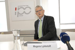 MOGENS LYKKETOFT_NEWLY ELECTED PRESIDENT IN UNO Stock Photo