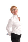 moget le för affärskvinna arkivbilder