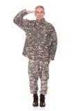 Moget militärt salutera för soldat royaltyfria foton