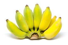 Moget odla bananen på vit Royaltyfri Fotografi