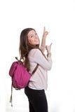 Moget peka för student Fotografering för Bildbyråer