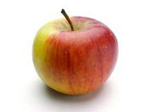 Moget röd-guling äpple royaltyfri fotografi