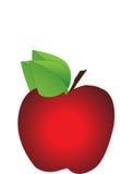Moget rött äpple royaltyfri illustrationer