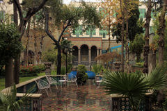 Moghadam房子博物馆,德黑兰,伊朗 免版税库存照片