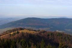 Mogielica Peak - Beskid Wyspowy, Poland Royalty Free Stock Photos