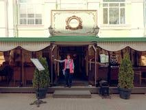 MOGILEV, BELARUS - APRIL 27, 2019: interior of the cafe VAN GOG stock photo
